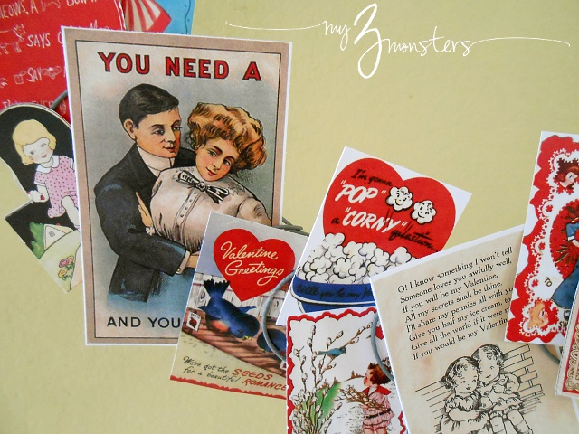 Vintage Valentines Printables at my3monsters.com