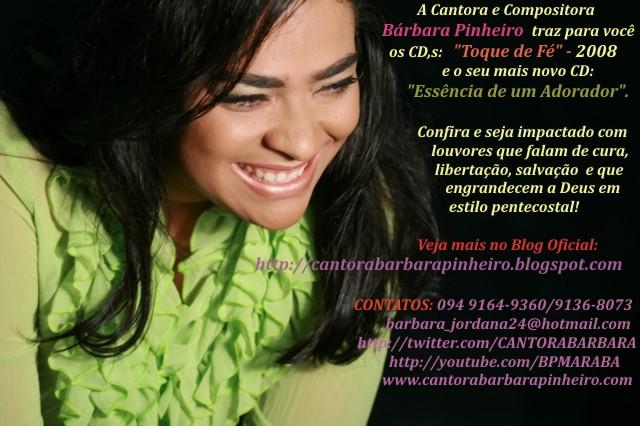 Mudamos de endereço, agora é Blog Oficial da Cantora Bárbara Pinheiro