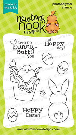 Bunny Hop - 3x4 Easter Bunny Butt  Stamp set by Newton's Nook Designs