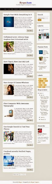 respoaum simple responsive blogger template 2014 for blogger or blogspot,download free simple template,free download responsive template,social bookmarks icons template,1 column template 2014 2015