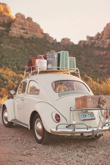 volkswagen beetle - luggage