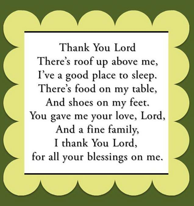 Thank You Lord ...