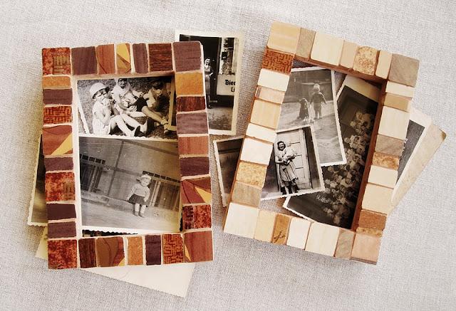mozaika artystyczna - retro ramki na zdjęcia
