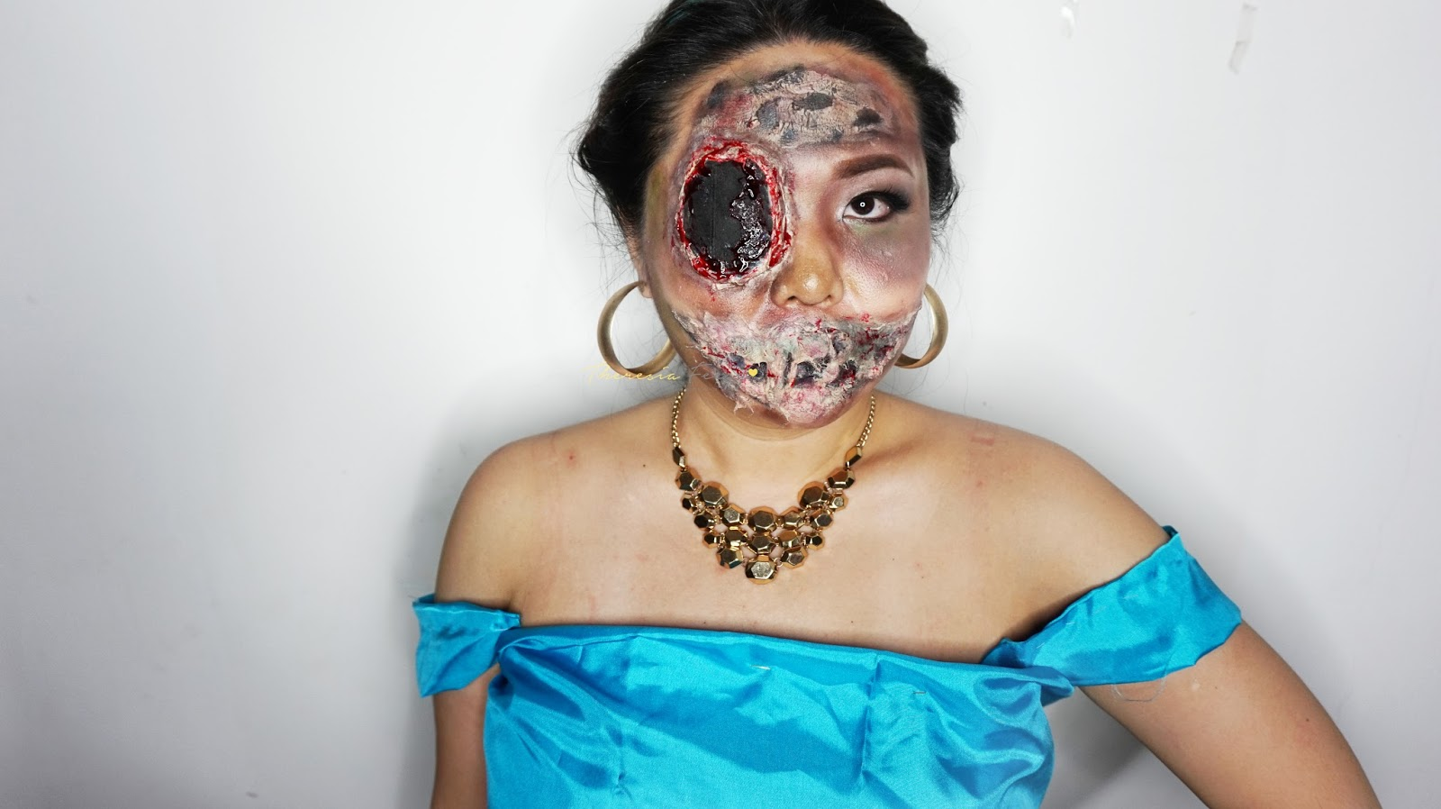 PART 2 EASY HALLOWEEN INSPIRED LOOK ZOMBIE PRINCESS JASMINE SPECIAL EFFECT AND FACE