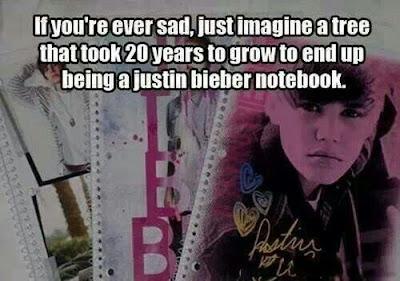 justin beiber notebook, if you're ever sad beiber notebook, beiber comic