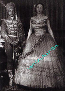 Verdura and Lady Alice Wimborne in Second Empire costume at the dinner-dance in Palermo given by Lo Monaco in 1929.
