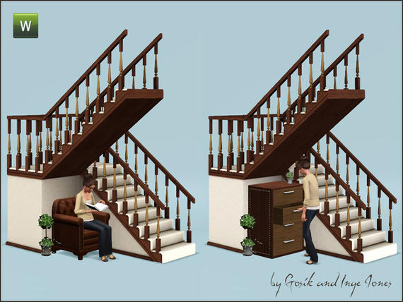 Half staircases that change direction midway l shape for Half spiral staircase