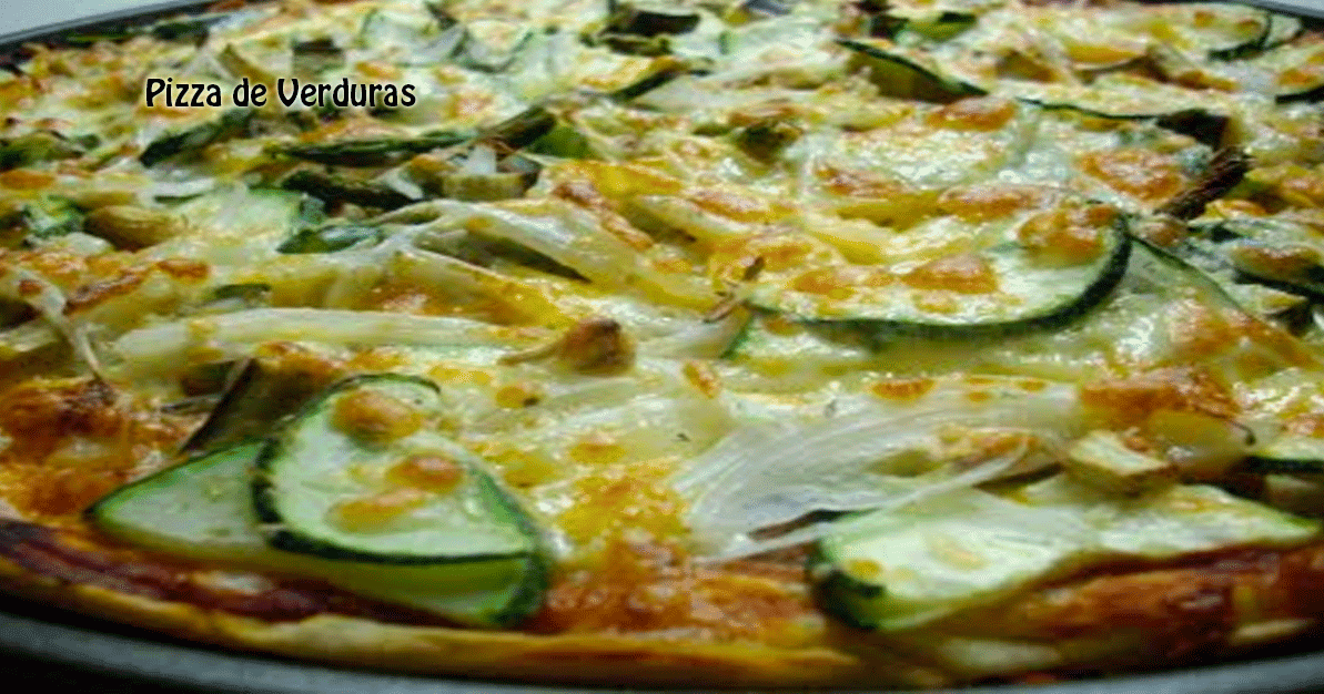 Pizza de verduras recetas f ciles for Pizza de verduras