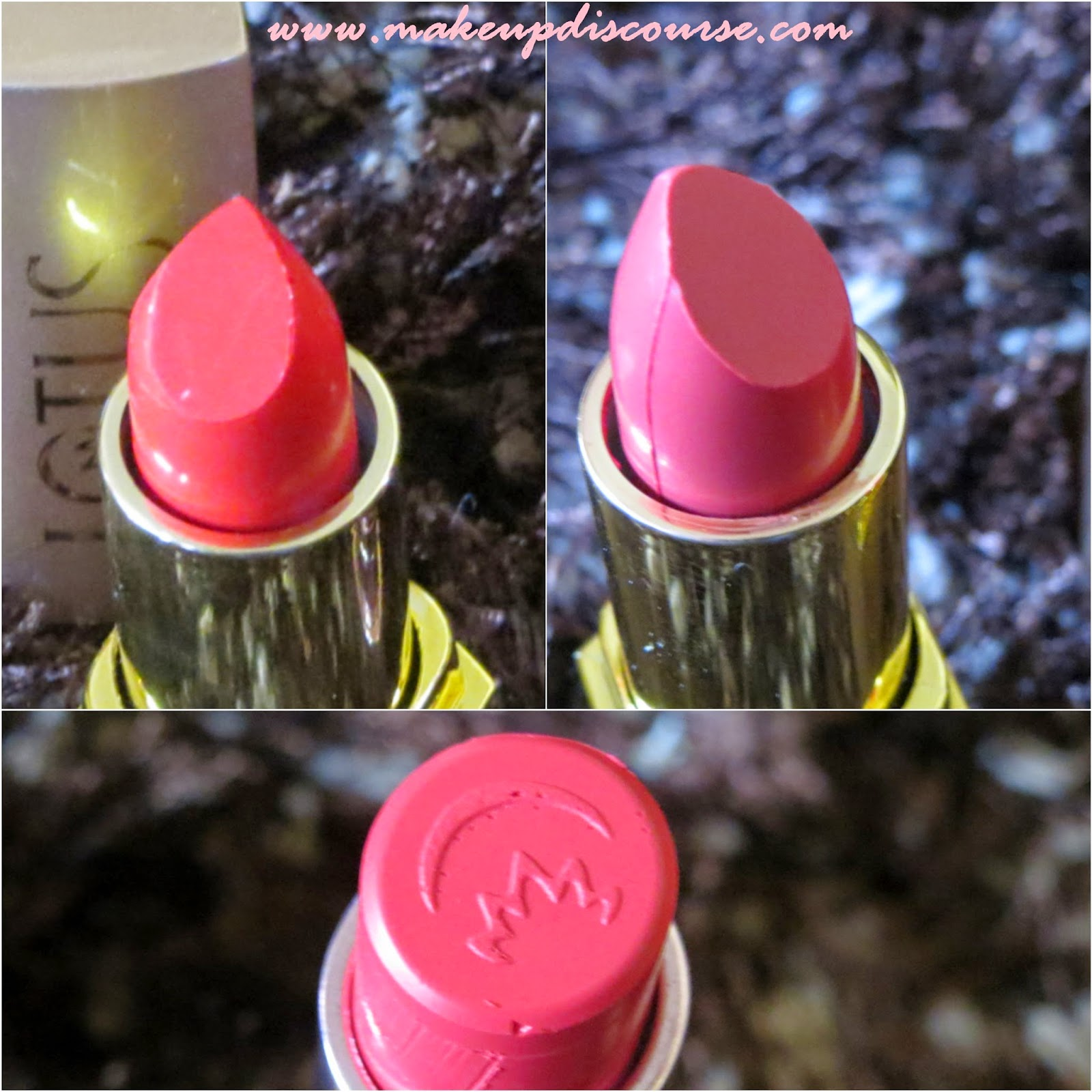 Lotus Herbals Pure Colors and Eco Stay Lipstick Carnation, Tangerine and Coral Candy