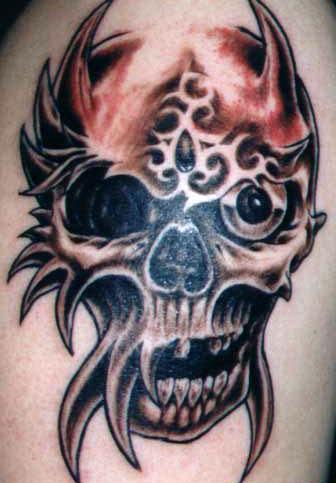 Tribal Skull Tattoo Designs
