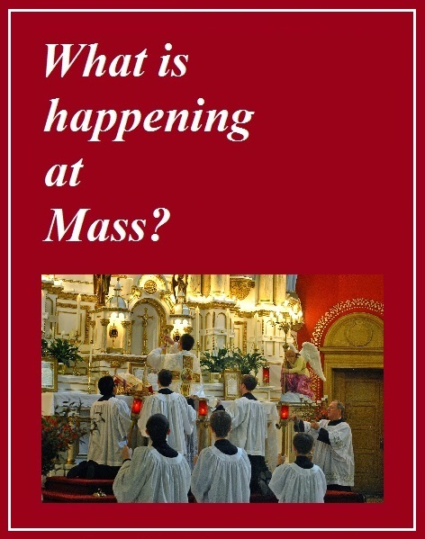 What is happening at Mass?
