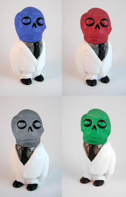 Astro Zombie Resin Figures by Motorbot - Blue, Red, Gray & Green