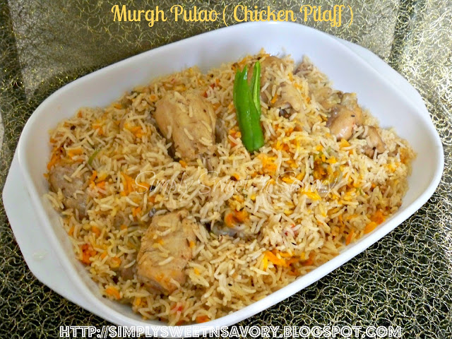 Murgh Yakhni Pulao ( Chicken Pilaff ) ... A delicious rice dish cooked ...