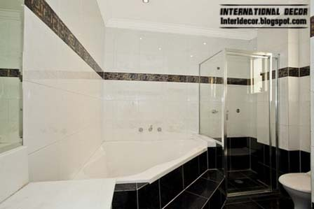 black bathroom tiles designs ideas, black tiles