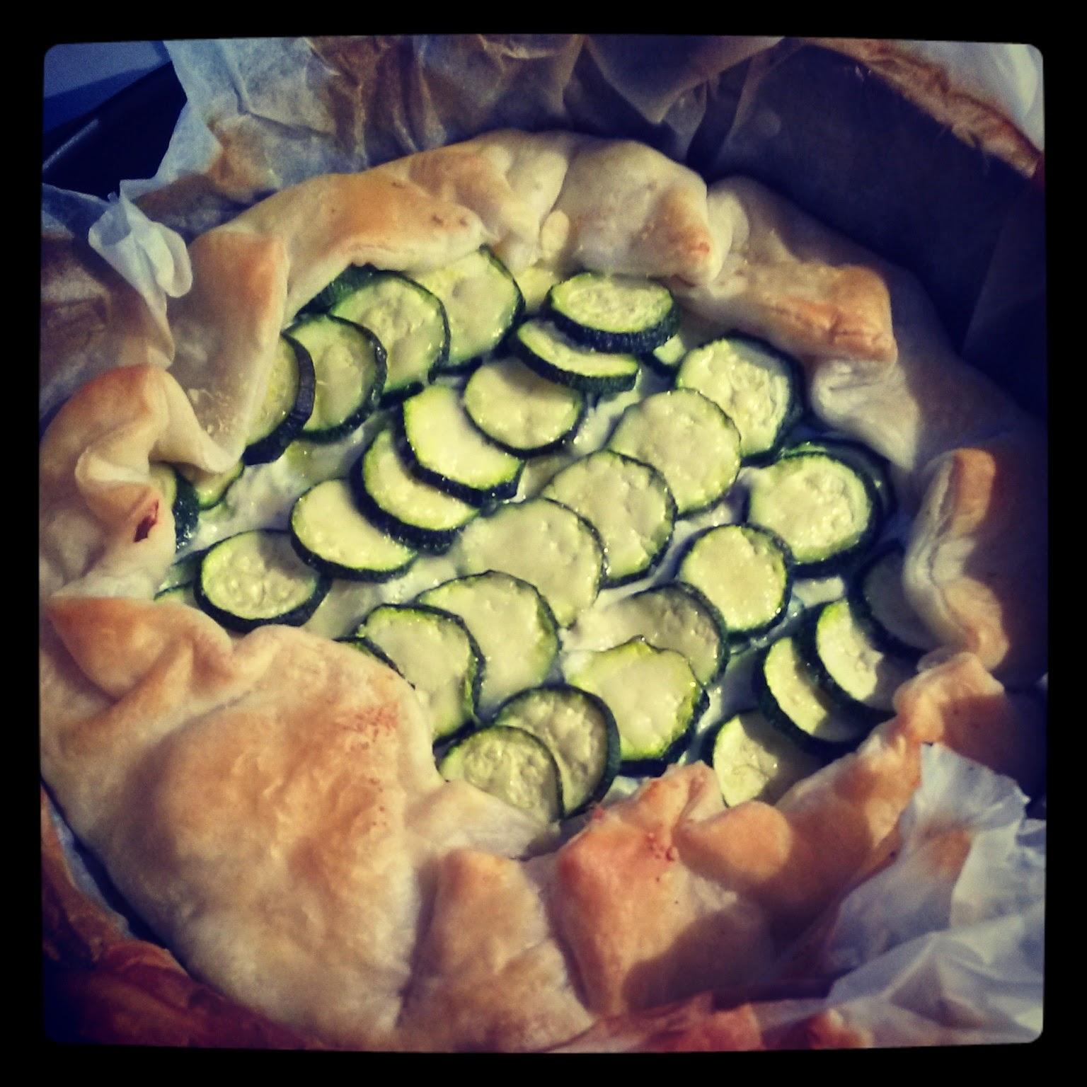 Torta salata di zucchine con ricotta e pecorino