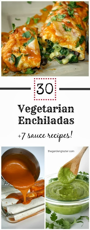 The Garden Grazer: 30 Vegetarian Enchilada Recipes (+7 sauce recipes!)