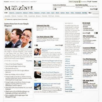 Simple Magazine - Free News Blogger Template