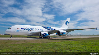 The 100th Airbus A380 was delivered to Malaysia Airlines