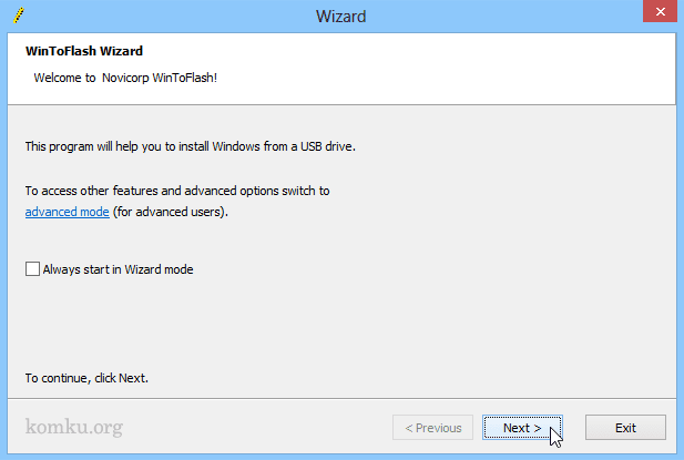 WinToFlash Wizard