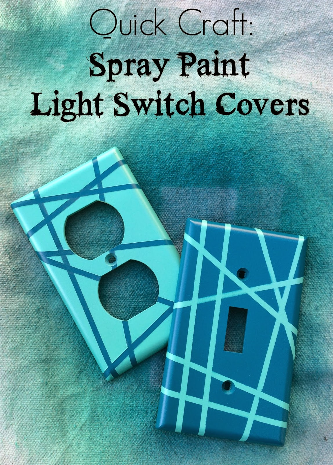 Rock paper feather quick craft spray paint light switch for Quick craft