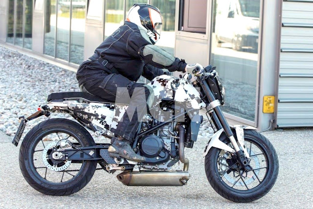 Husqvarna sedang membangun Cafe Racer dari KTM Duke 690 . . . Husqvarna 701 Cafe Racer ?