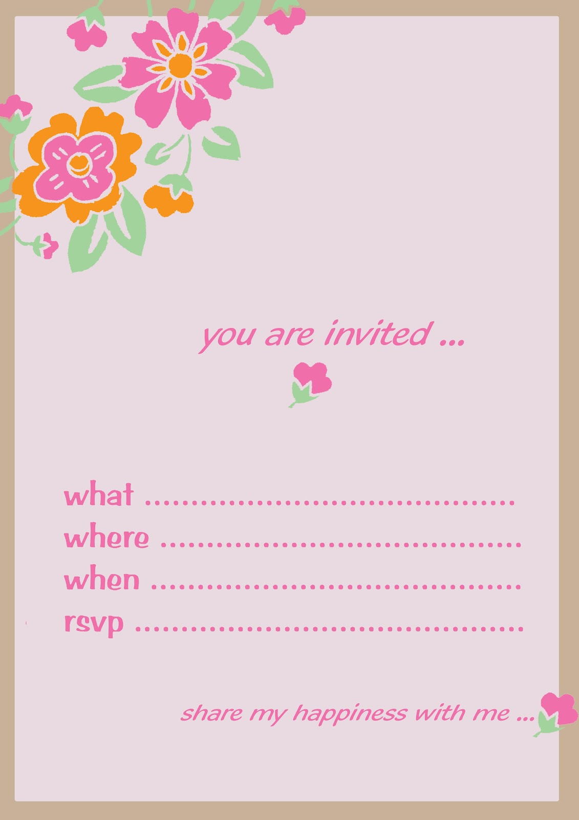 It's just a picture of Peaceful Birthday Invitation Cards Free