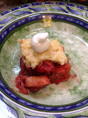 Bacon Strawberry Rhubarb Cobbler, Mother's Day