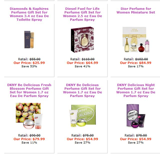 Sets of Perfumes at ValentinePerfume.Com