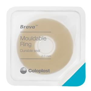 Mouldable ostomy ring