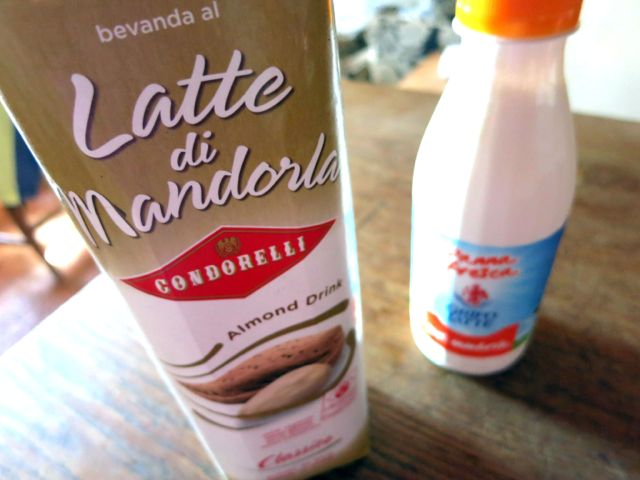 Condorelli Latte di Mandorle and heavy cream www.ElizabethMinchilliInRome.com