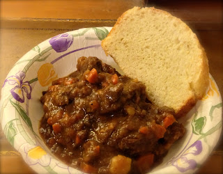 Guinness Beef Stew with bread