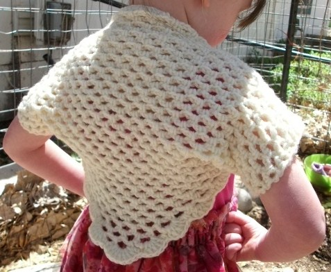 Copper Llama Studio Easy Spring Crochet Shrug