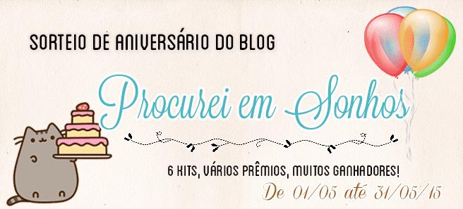 [Promoções] Aniversário do blog | Procurei em Sonhos