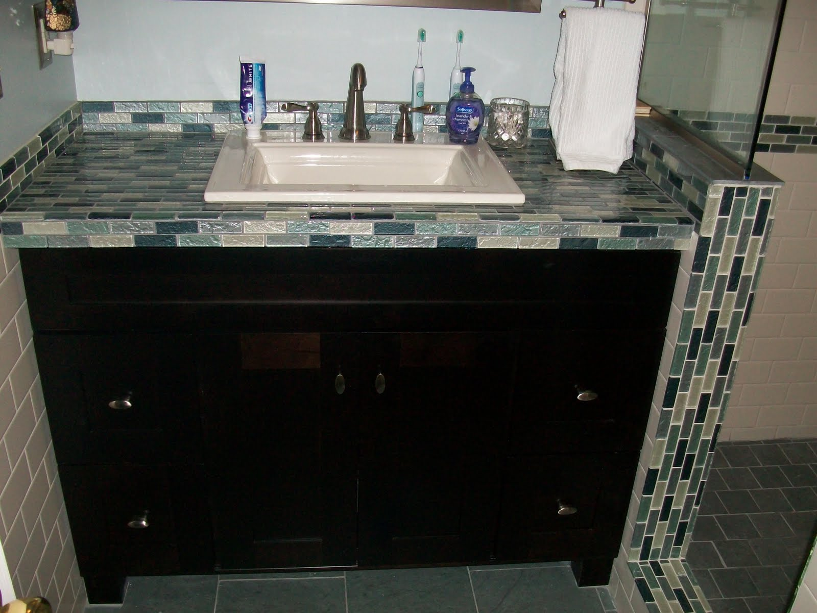 Bathrooms with Slate Tile Countertops