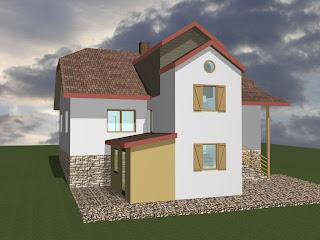 Rozbudowa budynku mieszkalnego o klatkę schodową