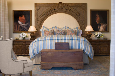 Headboard And Over Sized Portraits Seem Steampunk To Me