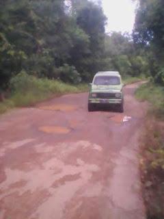 Baru Diperbaiki, Jalan Kecamatan Muara Kuang – Rambang Rusak Lagi