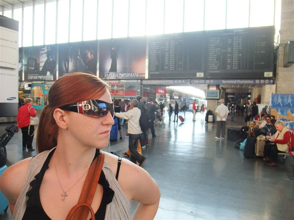 rome train station, italy, train time, waiting, looking
