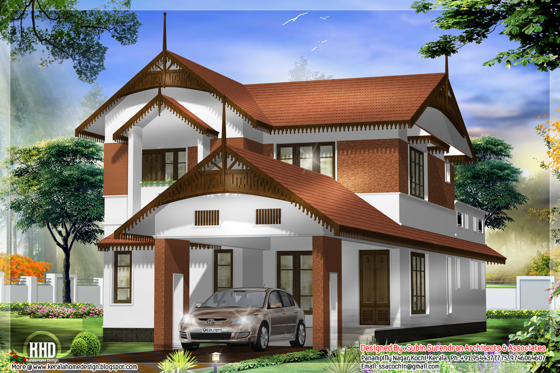 Awesome kerala style home architecture kerala home for Home designs kerala style