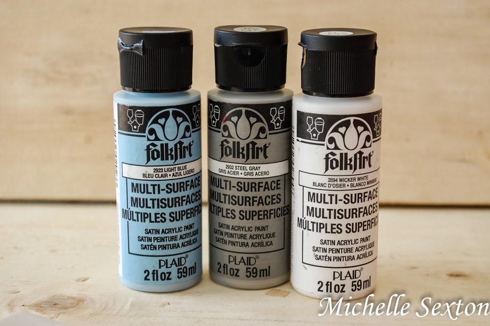 FolkArt Multi-Surface Paint - perfect for a variety of different surfaces. It's even dishwasher safe!