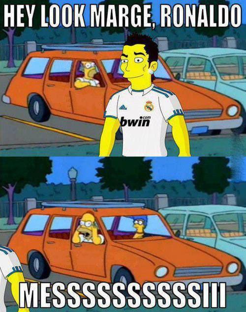 Ronaldo vs. Los Simpsons