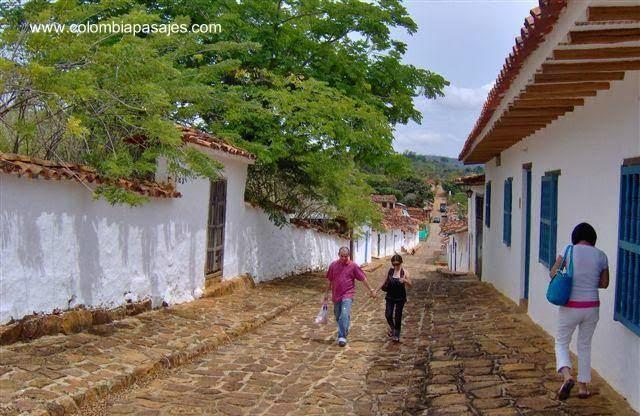 Calle y casas de Barichara - Colombia