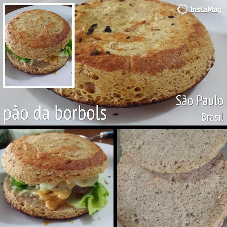 pão de hambúrguer low carb high fat