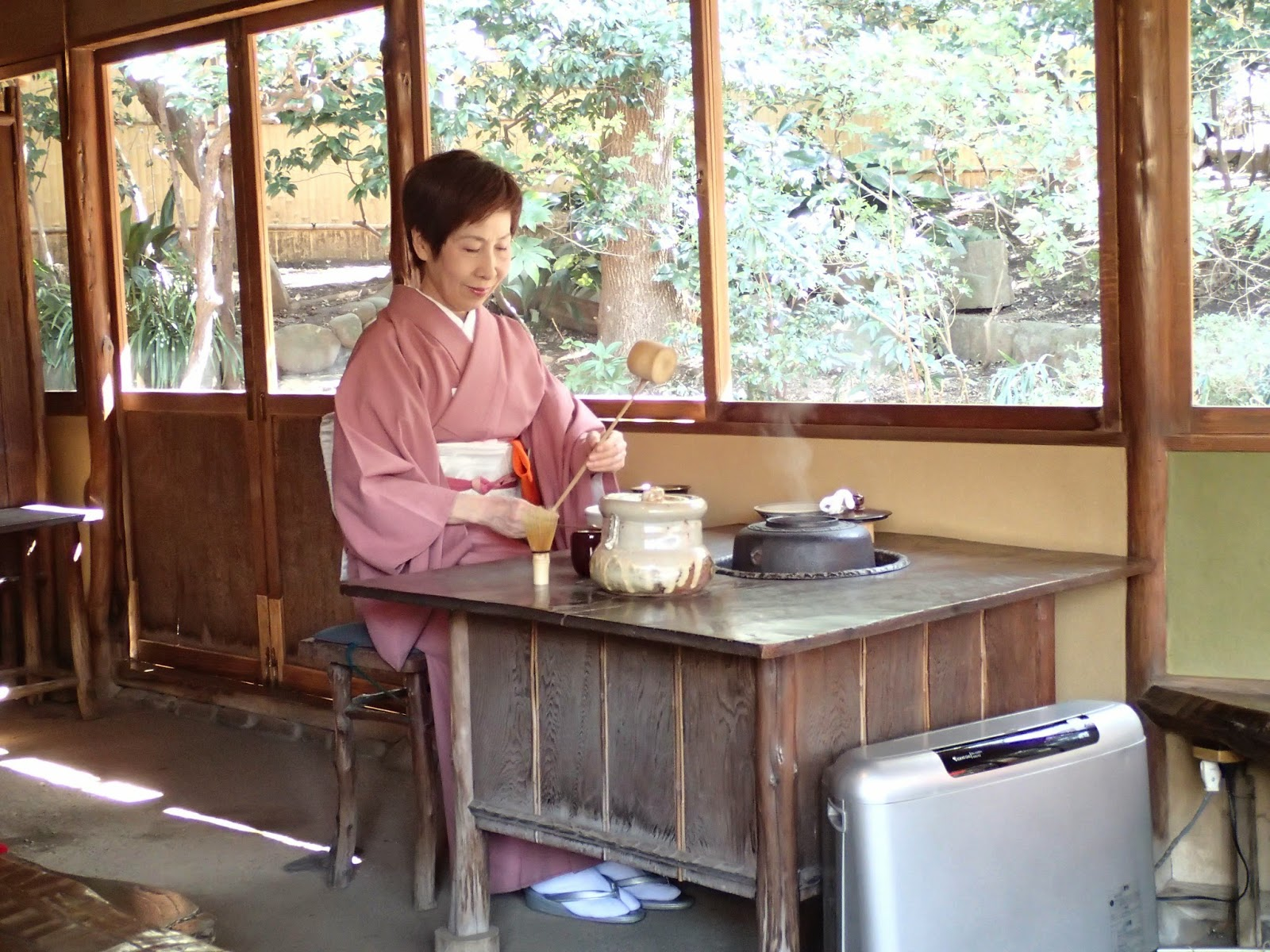 traditional japanese tea ceremony in tokyo at happo-en