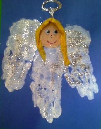 Crafts for preschoolers hand print angel