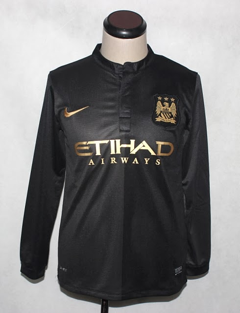 Jersey Manchester City Away Longsleeve 2013-2014