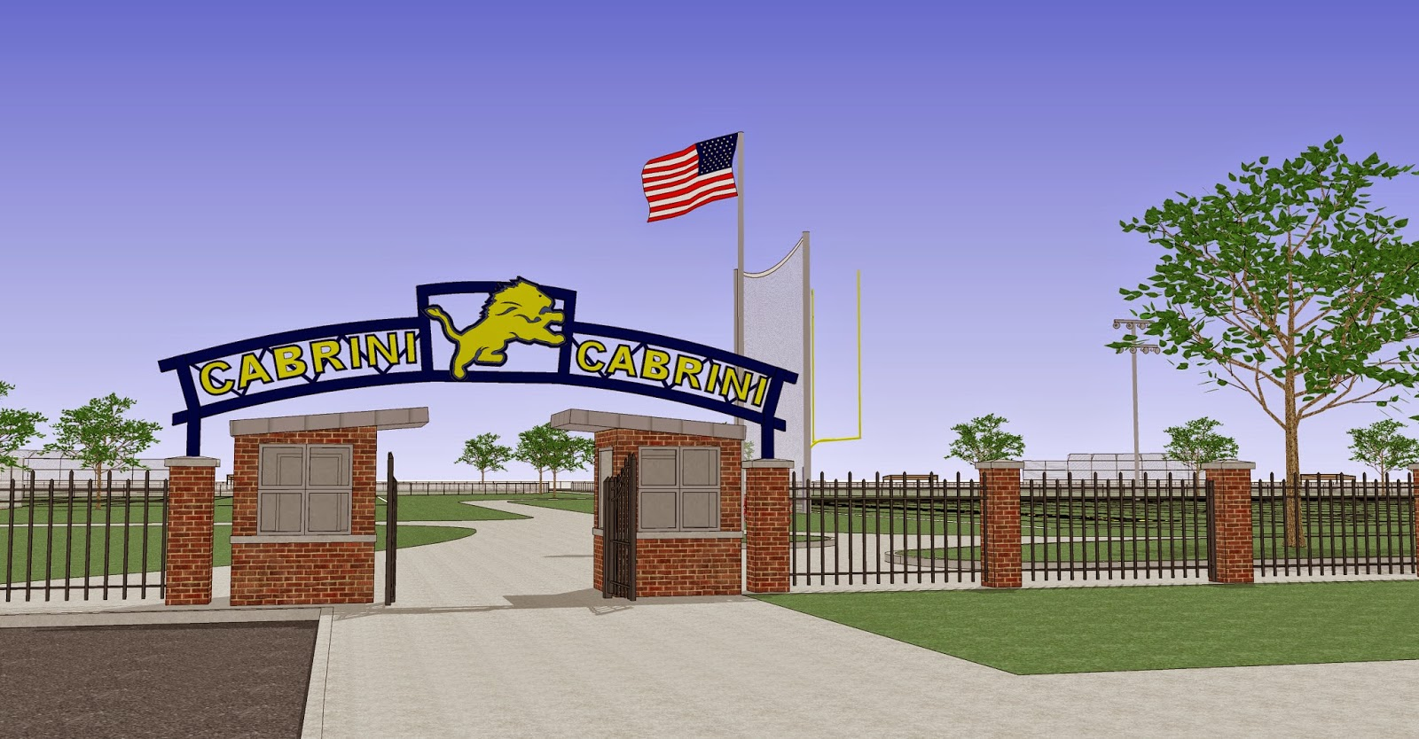Cabrini high school campus plan and building addition for New building design plan