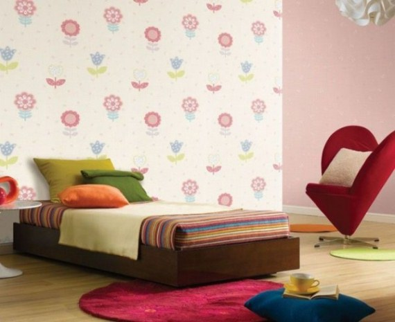 pink kids room wall decor ideas