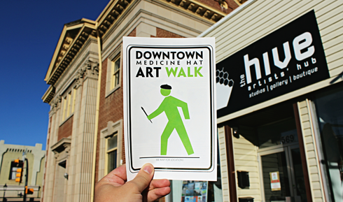 downtown art walk hive artists hub medicine hat alberta
