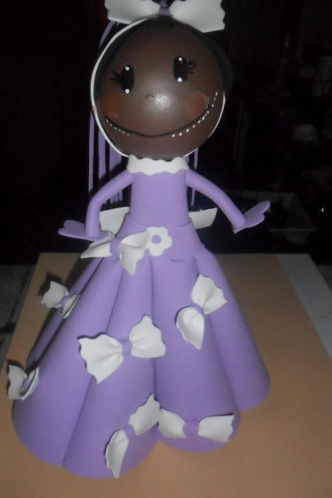 boneca princesa lilás feita por mim